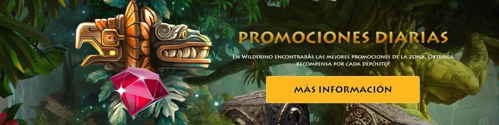 Wilderino promociones de casino online, bonos.